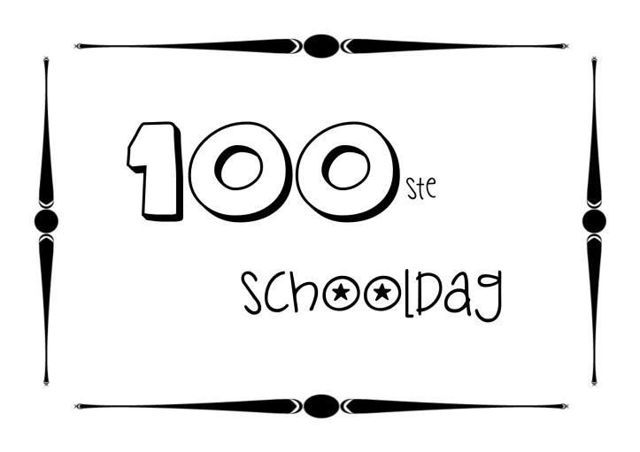 100ste-schooldag