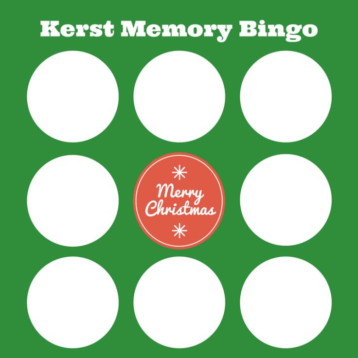 Kerst Memory Bingo kaart